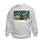 XmasMagic/Weimaraner 4 Kids Sweatshirt
