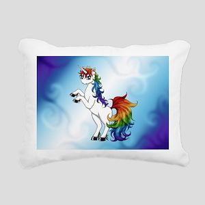 Rainbow Unicorn Rectangular Canvas Pillow