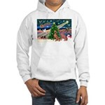 XmasMagic/2 Weimaraners Hooded Sweatshirt