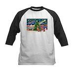 XmasMagic/2 Weimaraners Kids Baseball Jersey