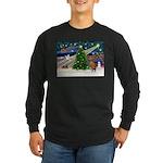 Xmas Magic & Vizsla Long Sleeve Dark T-Shirt