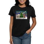 Xmas Magic & Vizsla Women's Dark T-Shirt