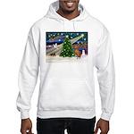 Xmas Magic & Vizsla Hooded Sweatshirt