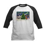 Xmas Magic & Vizsla Kids Baseball Jersey