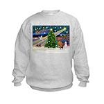 Xmas Magic & Vizsla Kids Sweatshirt