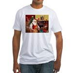 Santa's Vizsla Fitted T-Shirt