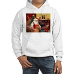 Santa's Vizsla Hooded Sweatshirt