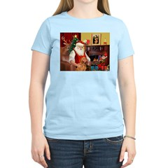 Santa's Vizsla Women's Light T-Shirt