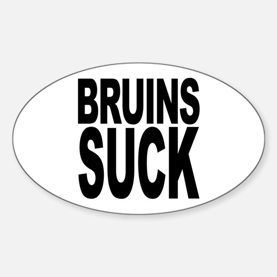 Bruins Suck Oval Decal