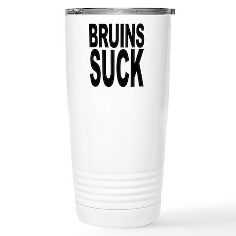 Bruins Suck Stainless Steel Travel Mug