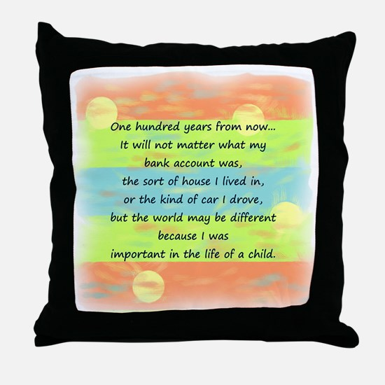 100 Years Throw Pillow