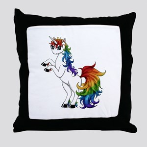 Rainbow Unicorn Throw Pillow