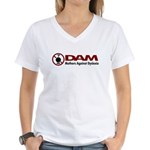DAM Mothers Against Dyslexia Women's V-Neck T-Shir