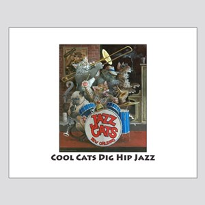Cool Cats Dig Hip Jazz Small Poster