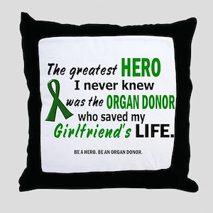 Hero I Never Knew 1 (Girlfriend) Throw Pillow