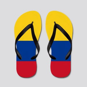 national flag of colombia Flip Flops