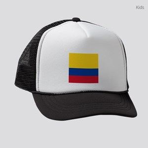 national flag of colombia Kids Trucker hat