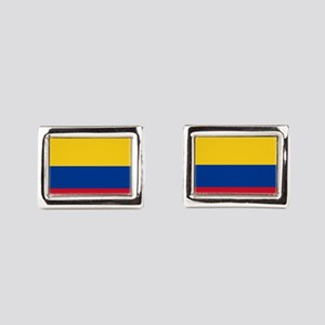 national flag of colombia Rectangular Cufflinks