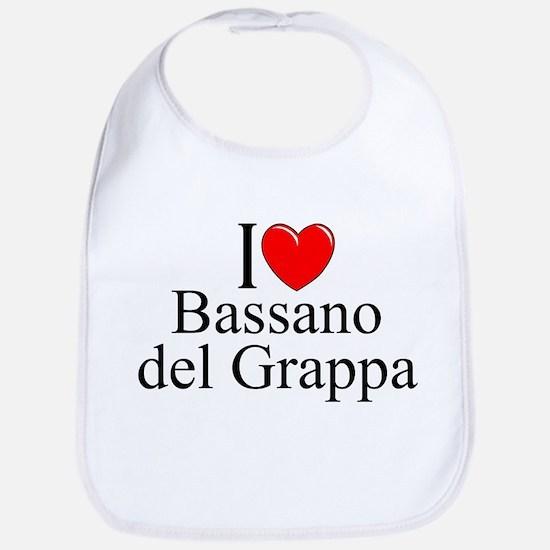 """""""I Love (Heart) Bassano del Grappa"""" Bib"""