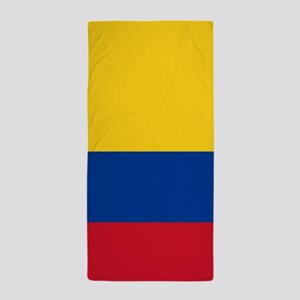 national flag of colombia Beach Towel