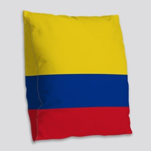 national flag of colombia Burlap Throw Pillow