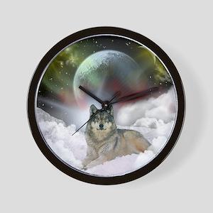 Fantasy Wolf Wall Clock
