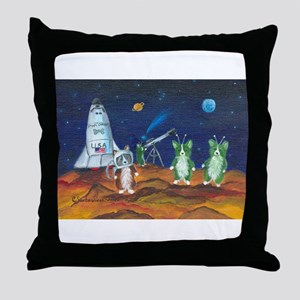 Take Me To Your Leader Pembroke Welsh Corgi Throw
