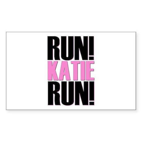 Run Katie Run Rectangle Sticker