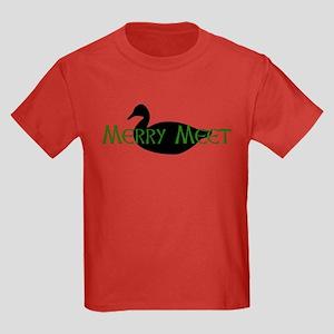 Merry Meet Spirit Duck Kids Dark T-Shirt