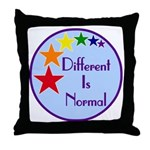 """Different Is Normal"" Throw Pillow 3"