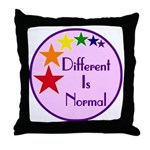 """Different Is Normal"" Throw Pillow 2"