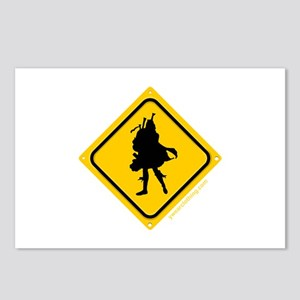 Bagpipe Player Crossing Postcards (Package of 8)