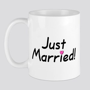 Just Married! (Pink Heart) Mug