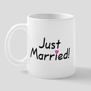 Just Married! (Pink Heart) Mug