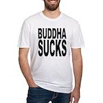Buddha Sucks Fitted T-Shirt