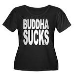 Buddha Sucks Women's Plus Size Scoop Neck Dark T-S