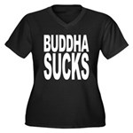 Buddha Sucks Women's Plus Size V-Neck Dark T-Shirt