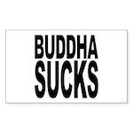 Buddha Sucks Rectangle Sticker