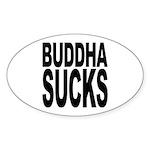 Buddha Sucks Oval Sticker (10 pk)