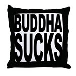 Buddha Sucks Throw Pillow