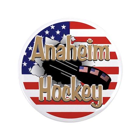 """Anaheim Hockey 3.5"""" Button"""