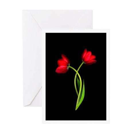 tulip in a heart card tulip greeting cards by doubloons 7267