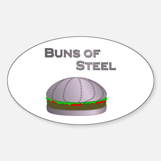Buns of Steel Oval Decal