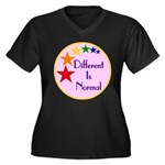 """Different Is Normal"" Plus V-Neck 2"