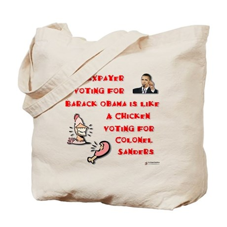 Taxpayer Chicken Tote Bag