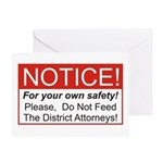 Notice / D.A. Greeting Card