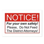 Notice / D.A. Postcards (Package of 8)