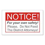 Notice / D.A. Rectangle Sticker