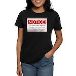 Notice / D.A. Women's Dark T-Shirt