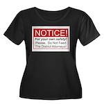 Notice / D.A. Women's Plus Size Scoop Neck Dark T-